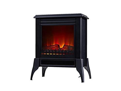 Chimenea Eléctrica de suelo tipo estufa tradicional de color negro max 2000...