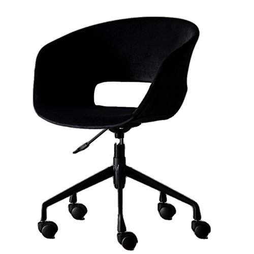Draaistoel, computerstoel modern Simple Velvet Casual Conference draaistoel BüRo integraal stoel zwart