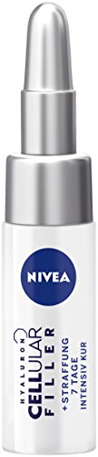 Nivea Hyaluron CellLular Filler + versteviging 7 dagen intensieve kuur in 3-pack (3 x 5 ml), voedende anti-aging kuur, intensieve anti-rimpelcrème met hyaluronzuur