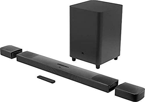 JBL Bar 9.1 True Wireless Surround – Sound Bar mit Subwoofer in Schwarz – Mit Dolby Atmos, DTS:X und abnehmbaren Lautsprechern