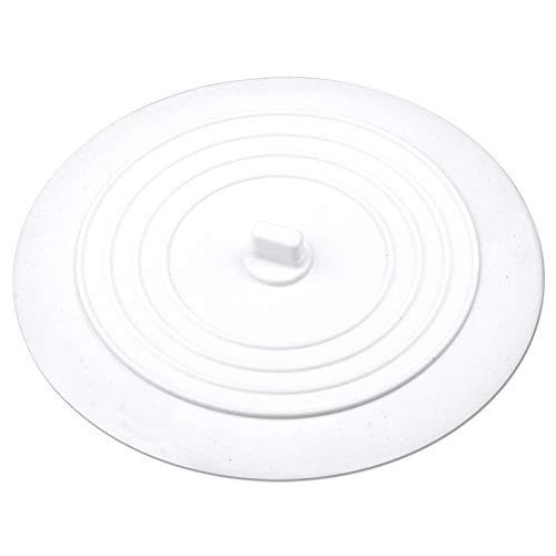 kuou Tapón de silicona para bañera, tapón universal de fregadero de 6 pulgadas, tapón de drenaje para cocinas, baños y lavanderías, cubierta de drenaje de bañera del fregadero (blanco)