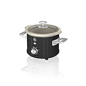 Swan Retro Slow Cooker with Removable Ceramic Pot, 3 Heat Settings