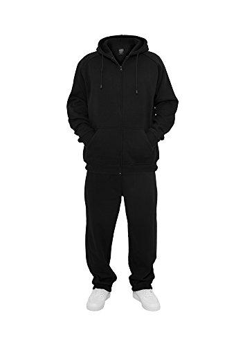 Urban Classics Herren Blank Suit Jogginganzug, Schwarz (Black 7), 60 (Herstellergröße: 4XL)