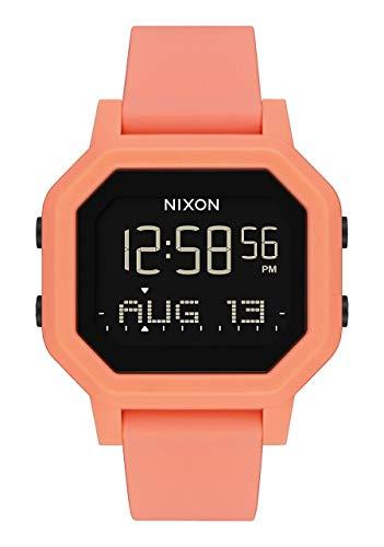 NIXON Siren A1210 - Light Tangerine - 100m Water Resistant Women's Digital Sport Watch (38mm Watch Face, 18mm-16mm Pu/Rubber/Silicone Band)