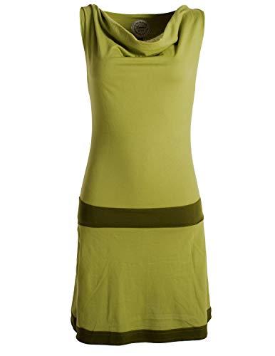 Vishes - Alternative Bekleidung - Ärmellose Tunika aus Biobaumwolle mit Wasserfallkragen hellgrün 40