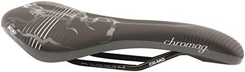 Chromag Juniper Sattel MTB/Cycle/VAE/E-Bike Erwachsene, Unisex, Black/Grey, 141 x 269 mm