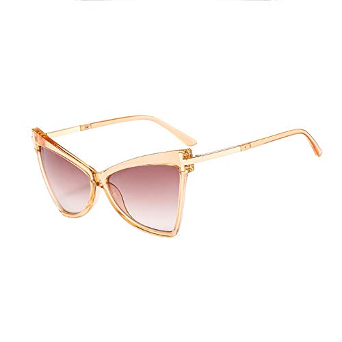 GYMO Small Cat-Eye Sunglasses, Retro Polarized Plastic Metal Frame, Light And Suitable for Driving Fishing Sports,champagne