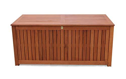GRASEKAMP Qualität seit 1972 Kissenbox 130cm Auflagenbox Gartenbox Truhe Eukalyptus