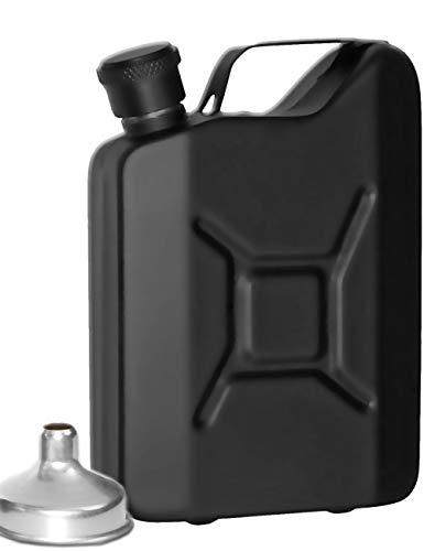 Outdoor Saxx® - Edelstahl Flachmann Sprit Benzin-Kanister Optik, Taschen-Flasche, Trink-Flasche, Schnaps-Flasche, Tolle Geschenk-Idee in Geschenk-Box, 150 ml, schwarz