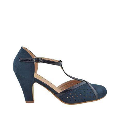 Chaussures de salon hachées Navy - Bleu - bleu marine, 39 EU EU