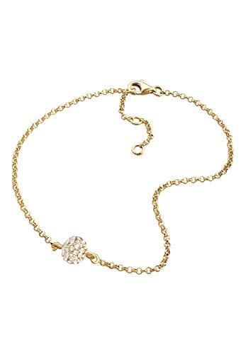 Elli Fußschmuck Fußschmuck Swarovski Kristalle gold