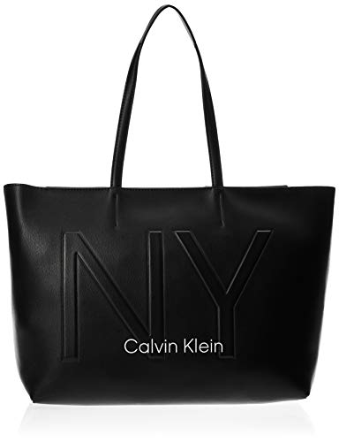 Calvin Klein - Ck Must Psp20 Med Shopper Ny, Bolsos totes Mujer, Negro (Black), 0.1x0.1x0.1 cm (W x H L)