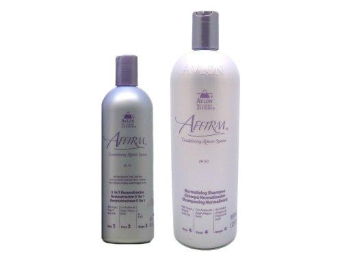 Avlon Affirm 5 in 1 Reconstructor 16 Oz + Normalizing Shampoo 32 Oz