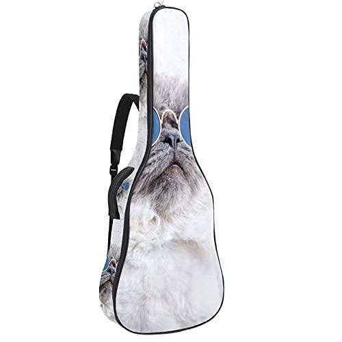 Paquete de guitarra acústica para principiantes, tamaño completo con tapa de abeto, bolsa de guitarra acústica para gato, gafas de sol de 42,8 x 42,8 x 11,9 cm