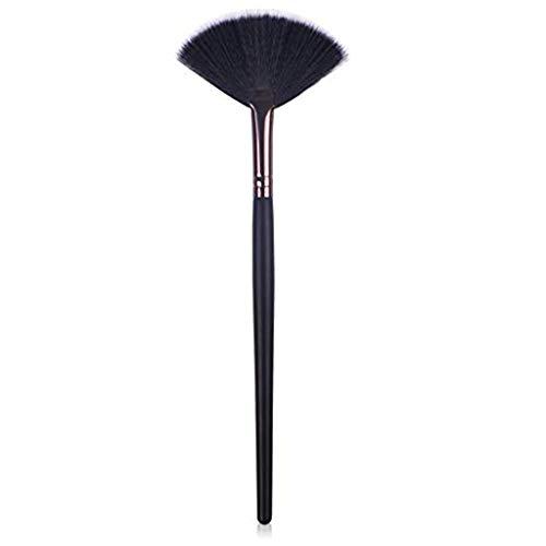 Make-up-Pinsel für Frauen Reisen Günstige Sleek Professionelle Oval 1 Stück - Jeden Tag das Leben flach Cosmetic Griff Nützliche Schwarz Werkzeuge,Schwarz