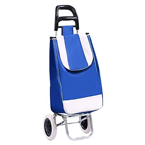Carros de servicios públicos Carrito de compras plegable con 2 ruedas bolsa de compras desmontable en ruedas Paquete de diagonal de utilidad grande y ligero Carrito de compras ( Color : 9 )