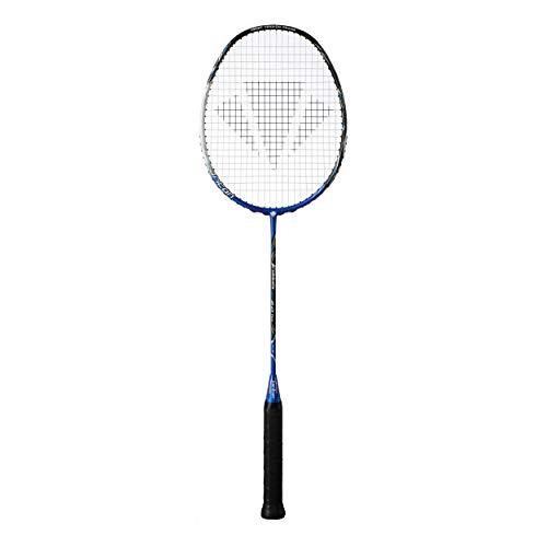 Carlton Fireblade Mega 2.0 Tour G4 HL besaitet g Badmintonschläger Badmintonschläger Blau - Weiß