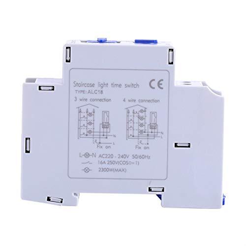 Interruptor de tiempo - AC 220-240V Mecánico Electrodomésticos Escalera Interruptor de tiempo de relé electrónico Temporizador de pasillo
