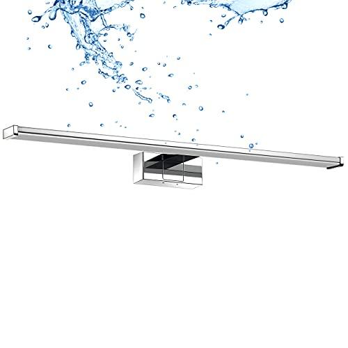LVWIT Lámpara de Espejo para Baño 60cm de 12W 960LM, Blanco Neutro 4000K, Acero...