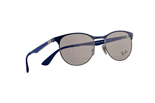 Ray-Ban RB 6365 Eyeglasses 51-17-145 Gunmetal Electric Blue w / Demo Clear Lens 2889 RX RX6365 RB6365