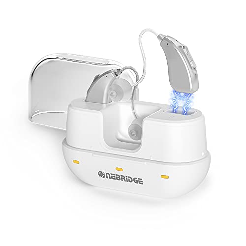 Onebridge Rechargeable Hearing Aids for Seniors, Noise Cancelling and...