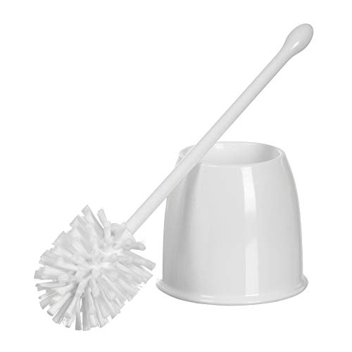 Casabella, White Toilet Bowl Brush with Holder Set