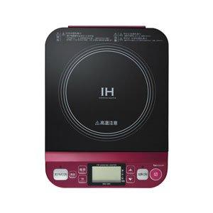 KOIZUMI(コイズミ) 【コンパクトだから食卓でも使える】IHクッキングヒーター レッド KIH-1201/R