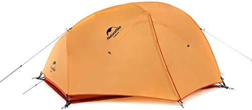 Naturehike Star-River Tenda Ultraleggera per 2 Persone Doppio Strato Tenda da Escursionismo Impermeabile Tenda da Viaggio (210T Arancia)