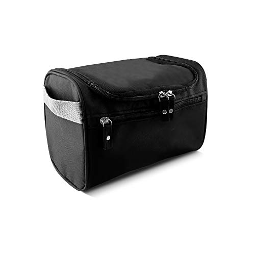 HIWASH Hanging Toiletry Bag Waterproof Toiletry Bag Travel Storage Shower Bag Wash Bag Mens Shaving Bag with Mesh and Zip Compartment, Overnight Gym Shaving Travel toiletries Set, Easy to Carry