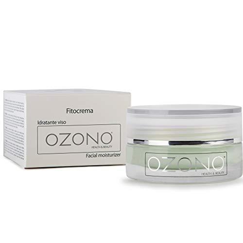 OZONO H&B Crema facial hidratante Fitocrema - Con aceite vegetal microencapsulado ozonizado - Extractos nutritivos, antibacterianos y antienvejecimiento naturales - Producción MADE IN ITALY (50ml)