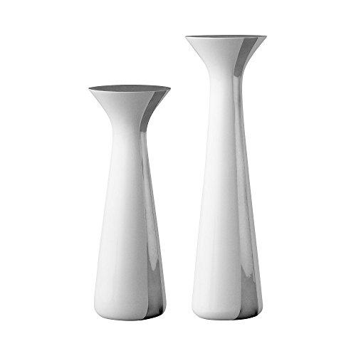 Unified Kerzenständer Set 2tlg, weiß S: 6,5x6,5x17cm L: 6,5x6,5x21cm
