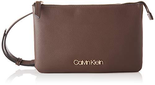 Calvin Klein, Crossovers para Mujer, Pizarra Marrón, One Size