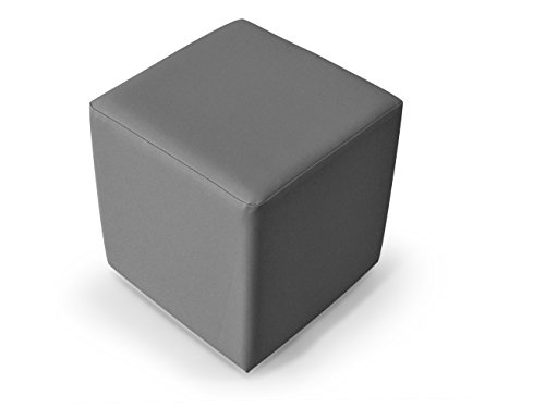 moebel-eins KUBUS Sitzwürfel Bandscheibenhocker Sitzhocker Fußhocker in hellgrau 50x45x45 cm, hellgrau
