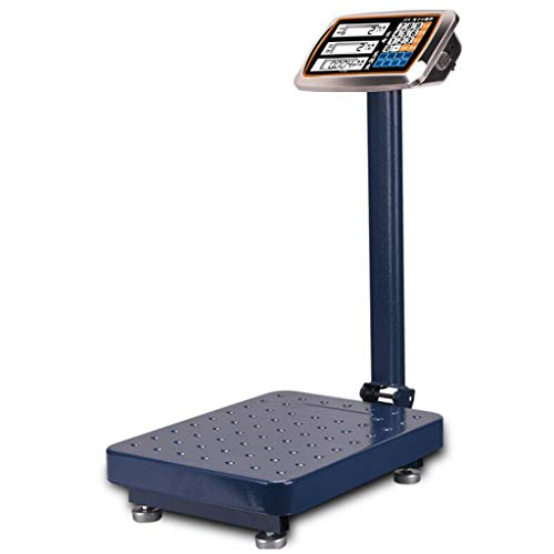 GLJJQMY Balanza de pesaje electrónico de Alta precisión 100 kg 300 kg pesaje Industrial báscula de Plataforma de Precios Comercial Escala electrónica