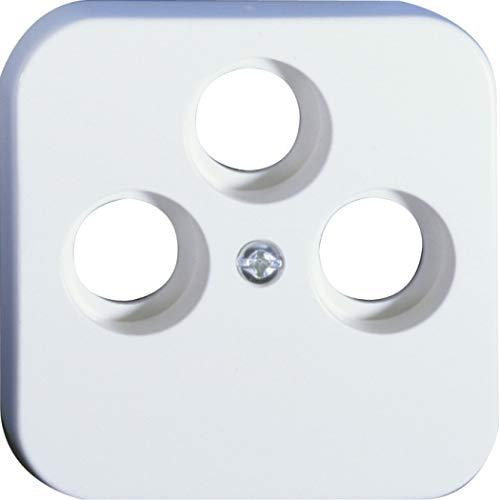 OPUS® 1 Abdeckung für Antennen-Steckdosen, 3-Loch Ausführung 3-Loch TV/RF/SAT, Farbe alpinweiß