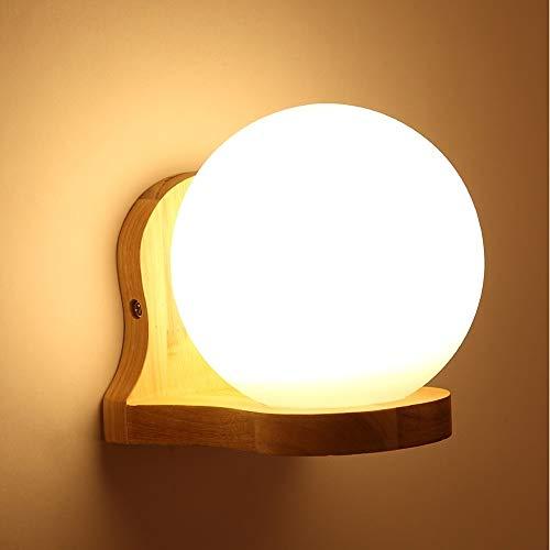 Xinmei Lámpara Decorativa Moderna Empotrada En El Dormitorio/Estudio/Madera De Oficina/Bambú Lámpara De Pared LED De Estilo Mini Apliques