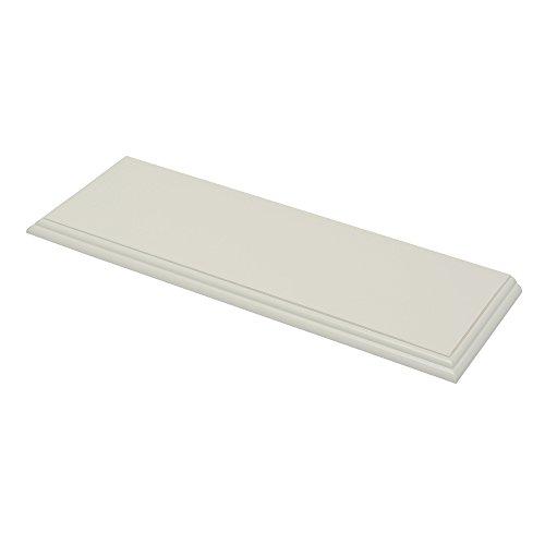 Duraline Retro Wandregal, Bücherregal, Regal | weiß, altweiß | 60 x 20 x 2 cm