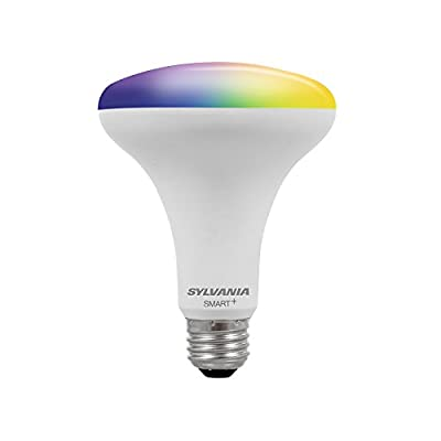 SYLVANIA General Lighting Smart+ BR30 Soft White LED Bulb, Works with Apple HomeKit and Siri Voice Control, 1 Pack, Dimmable