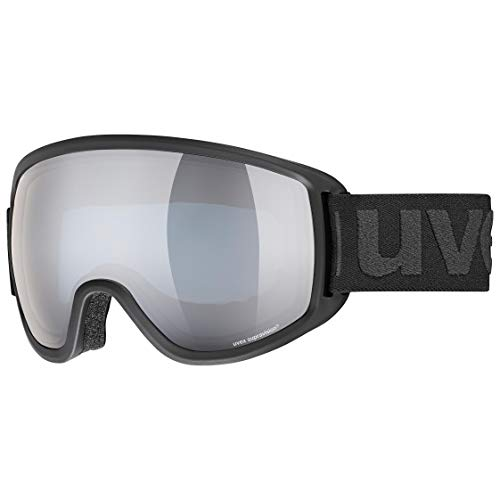 Uvex Topic Fm Sphere Skibrille, Black mat/Silver-Blue, one Size