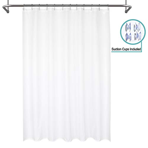 Mrs Awesome Waterproof Fabric Shower Curtain Liner, Suction...