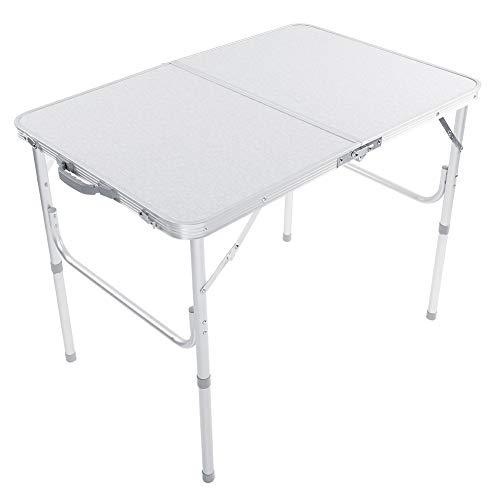 Tables Mesa Plegable, Mesa De Picnic Blanca, Mesa De Jardín Duradera De Aleación De Aluminio, Mesa De Camping Portátil para Exteriores, 90 * 60 * 69,5 Cm