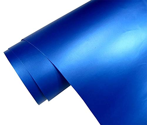 5€/m2 Auto Folie matt - blau metallic matt 30 x 150 cm blasenfrei Car Wrapping Klebefolie Dekor Folie