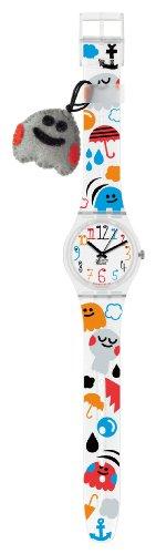 Swatch CUDDLE-CRAFTS - Reloj analógico de mujer de cuarzo con correa de plástico multicolor