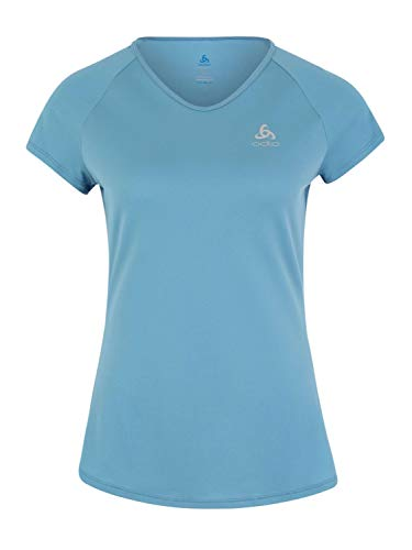 Odlo T-Shirt s/s Crew Neck Ceramicool T-Shirt Femme Niagara FR : L (Taille Fabricant : L)