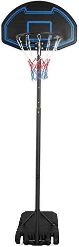 Sistema de marco de baloncesto de tamaño completo ajustable stent ajustable alto portátil bastidor de baloncesto para adultos y niños,Blue
