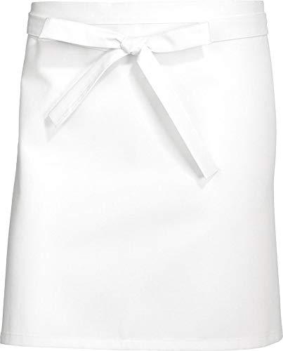 BP 1901-400-21-75/45 Barschürze kurz (Breite: 75 cm), 75 cm breit x 45 cm lang, 215,00 g/m² Stoffmischung, weiß ,75/45