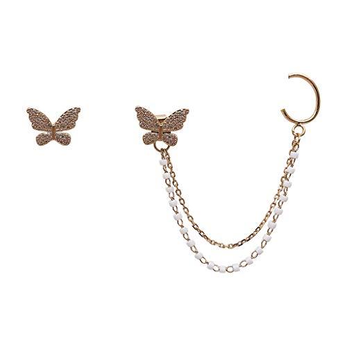 Rhinestones Ear Wrap Accessory Fashion Women Asymmetry Earrings