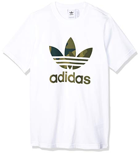 adidas Herren CAMO INFILL Tee T-Shirt, White/Multicolor, L