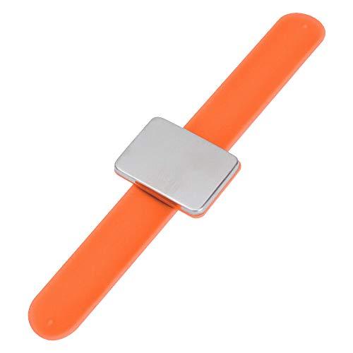 TreeLeaff Pinza magnética de costura, soporte de cojín magnético para acolchar alfileres de costura, pinzas de pelo con bolsa de franela, pulsera de silicona