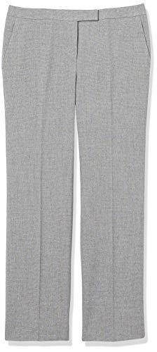 Kasper Women's Petite TAB Front Pant, Grey/Black, 4P